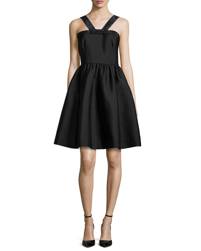 Kate Spade Sleeveless Metallic-Trim A-Line Dress ($548)