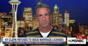 Dan Savage: Thrice-Divorced Kim Davis Is A 'Hypocrite,' Just 'Waiting To Cash In'