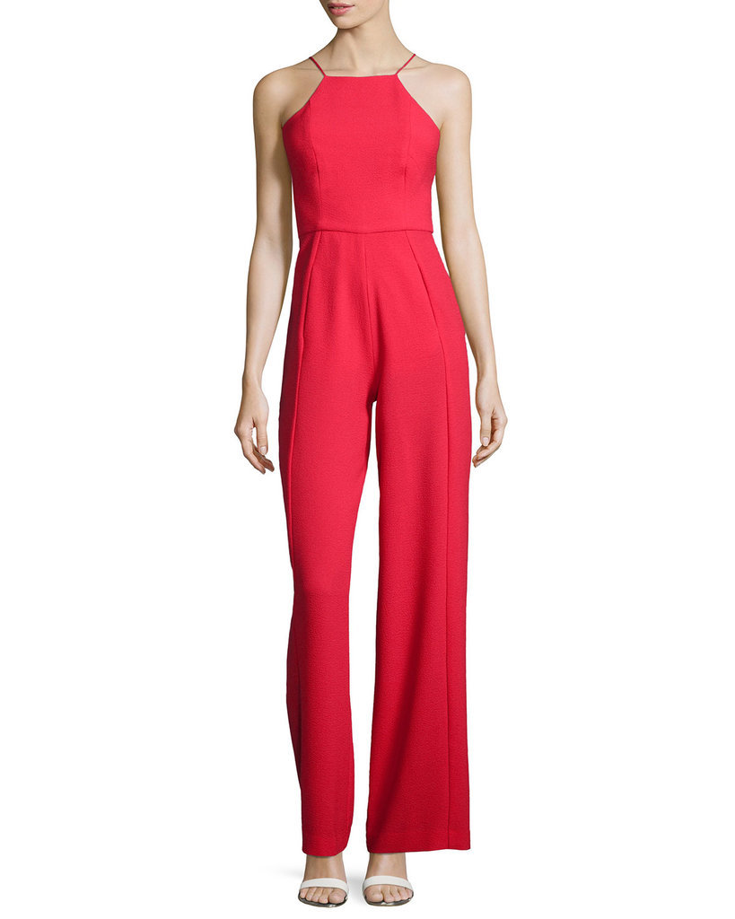 Black Halo Sleeveless Wide-Leg Jumpsuit ($390)