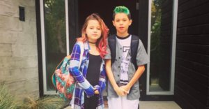 Travis Barker's Kids Win Most Punk Rock Back-To-School Pic