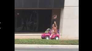 Enterprising UT Student Drives Barbie Jeep Around Campus After DWI