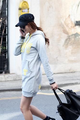 Fashion Long Sleeve Grey Cotton Long Pullovers Sweater - Vuhera.com
