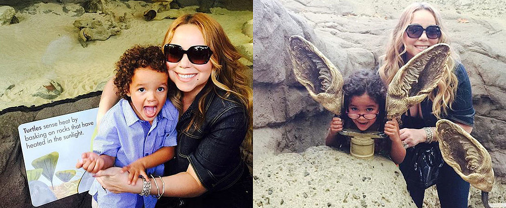 Mariah Carey Goes Wild With Her Kids, Monroe and Moroccan, During a Day at the Zoo