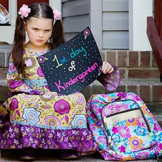 Funny First Day of Kindergarten Picture