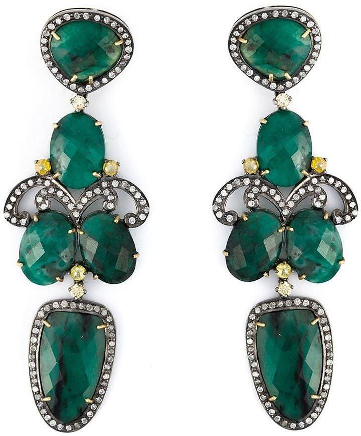 Gemco Drop Emerald Chandelier Earrings ($4,236)