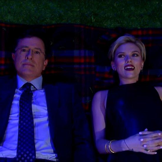 Scarlett Johansson on The Late Show September 2015 Video