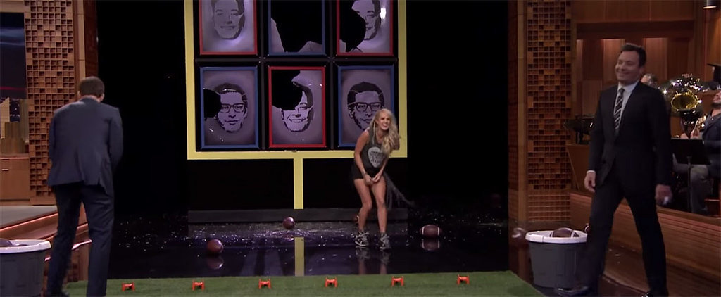 Fun Fact: Carrie Underwood Is Embarrassingly Bad at Football