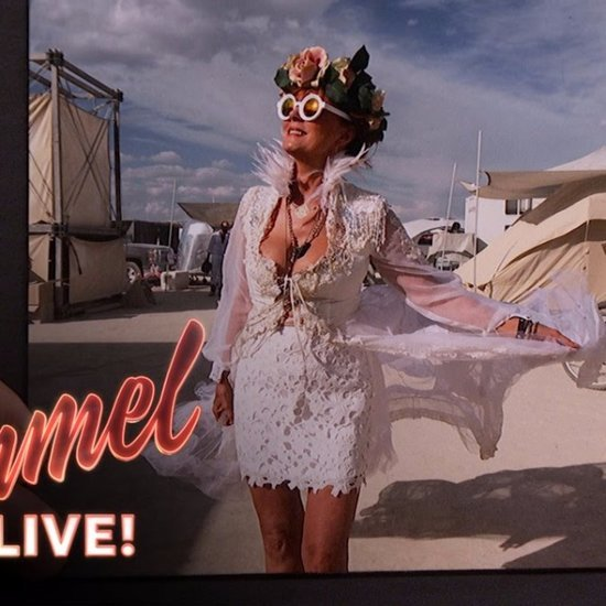 Susan Sarandon Talking About Burning Man Jimmy Kimmel Live