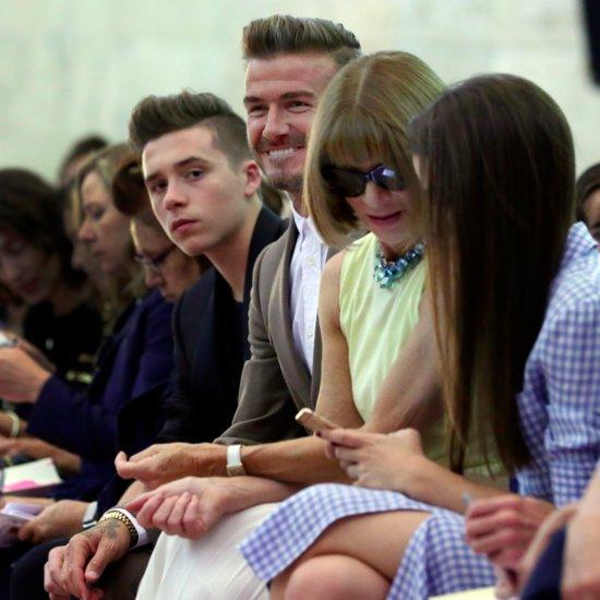 Beckham Family at New York Fashion Week 2015