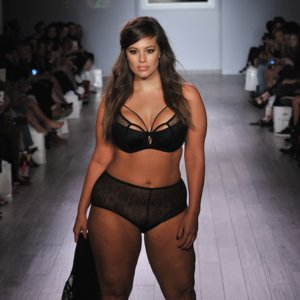 Ashley Graham Talks Curvy Role Models Backstage at Her NYFW Debut