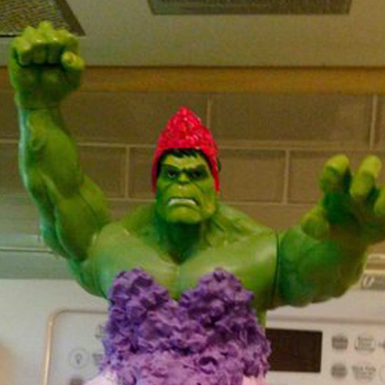 Dad Makes Hulk Princess Cake For Twin Daughters