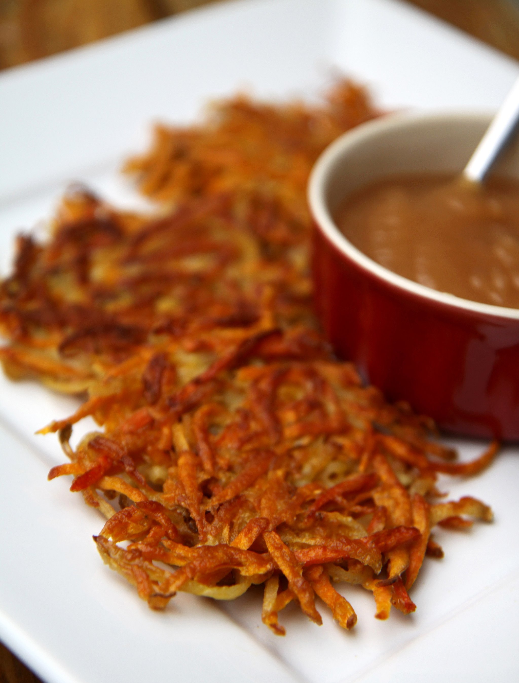 ... mixes grated carrots with sweet potatoes for a warm and sweet twist