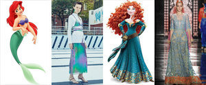 This Is What Happens When the Disney Princesses Try On Spring '16 Dresses