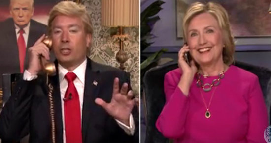 Best of Late Night TV: Hillary Clinton's Hilarious Donald Trump Call, Tobey Maguire Plays Connect Four