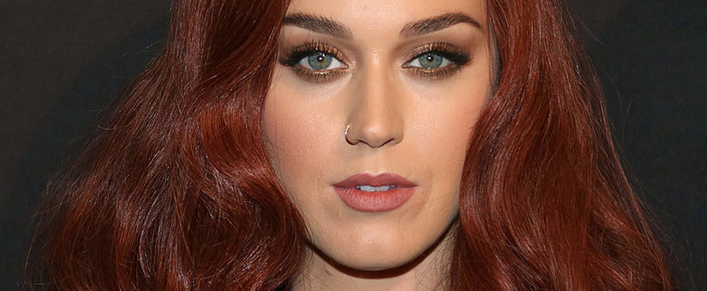 Katy Perry's Glossy Oxblood Mane Is Perfect For Halloween