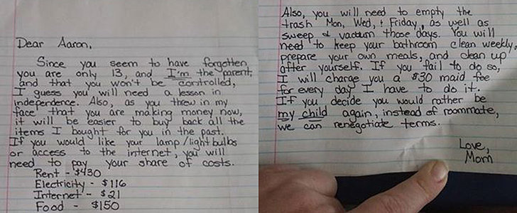 Why This Mom's $717 Bill to Her Son Is Going Viral