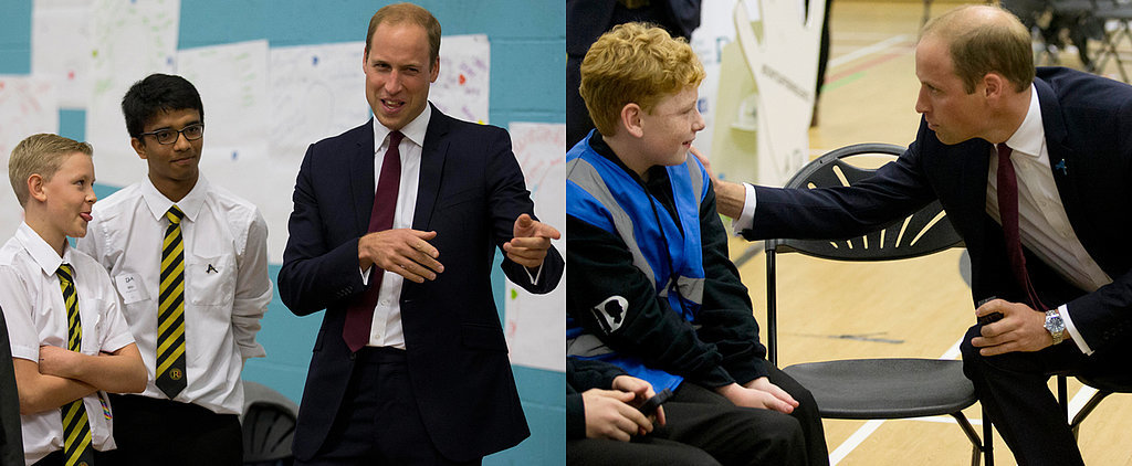 Prince William Meets With Kids and Fights Bullying For a Charity in Diana's Name