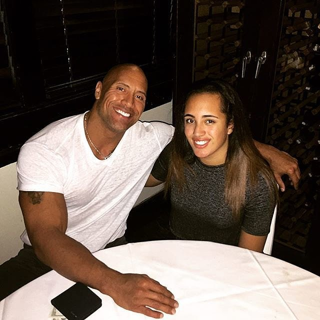 Dwayne Johnson S Instagram Photo With His Daughter Simone