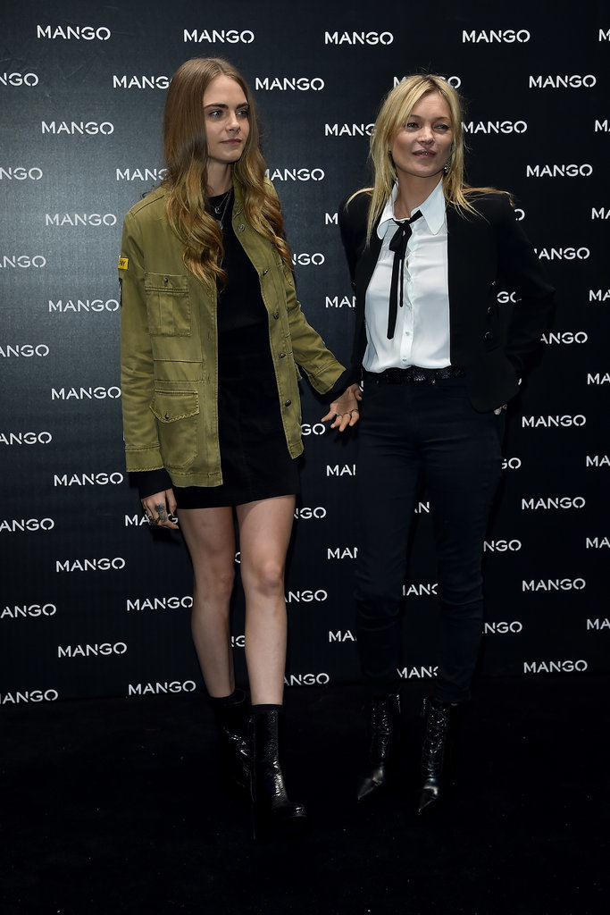 Cara Delevingne and Kate Moss