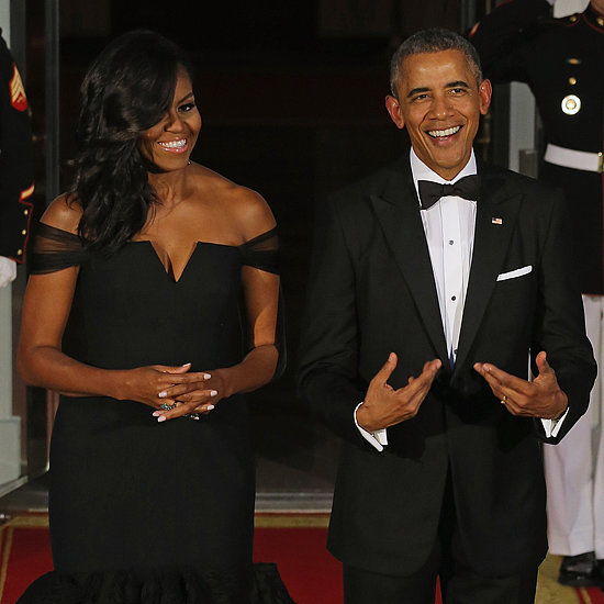 Michelle Obama's Black Dress at State Dinner