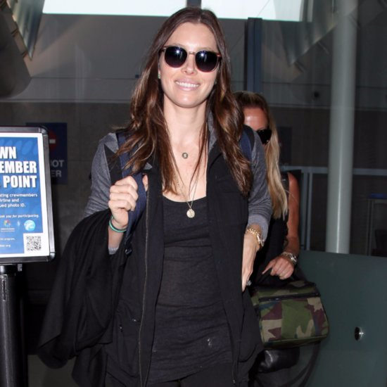 Jessica Biel at LAX September 2015