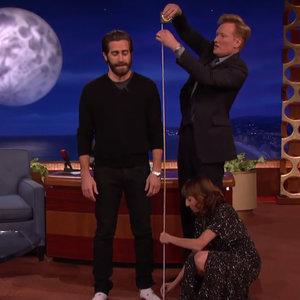 Jake Gyllenhaal Gets Measured on Conan