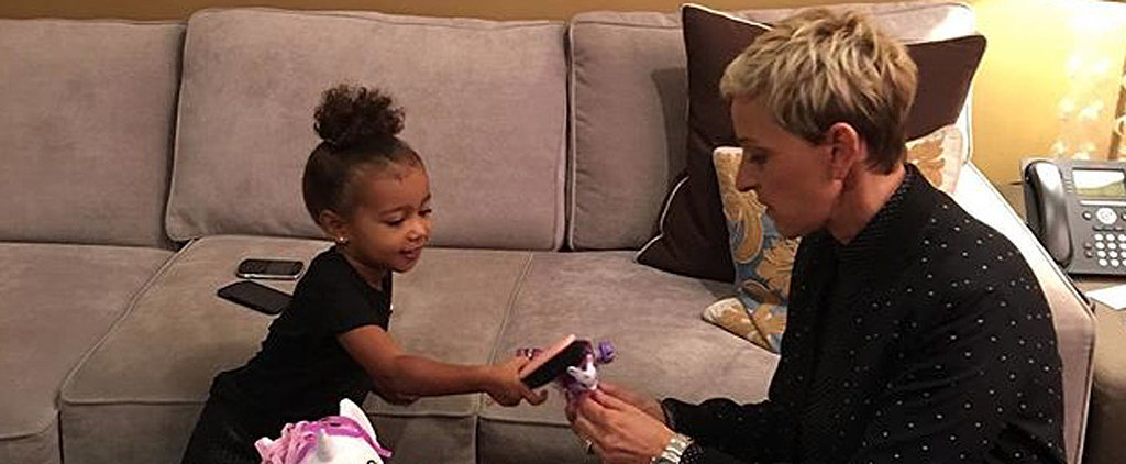 Ellen DeGeneres Bonds With North West in the Sweetest Way
