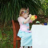 An Officer and a Father: Why the Photo of This Little Girl's Tea Party Will Make You Smile