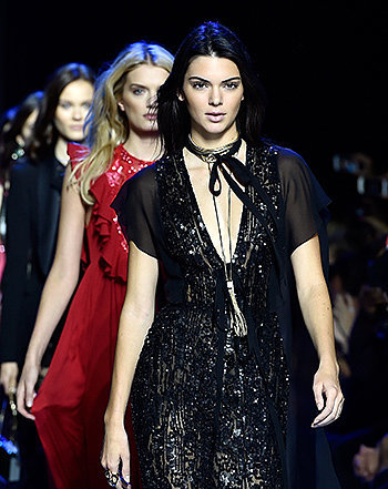 "Kris Jenner Is a ""Proud Mama"" as Kendall Closes Out Elie Saab Show at Paris Fashion Week: Photo"