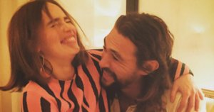 Emilia Clarke And Jason Momoa Had The Cutest 'Game Of Thrones' Reunion In Paris