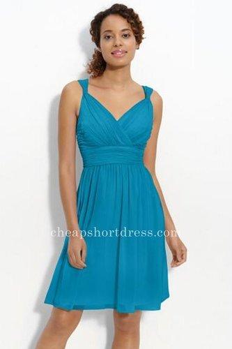Short Blue Bridesmaid Dresses Online Cheap
