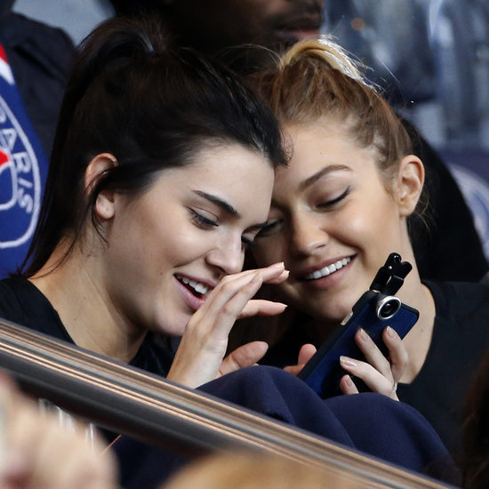 Gigi Hadid and Kendall Jenner Take Selfies at a Soccer Game