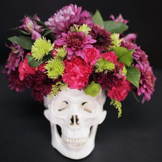 DIY Skull Floral Arrangement