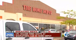 Bystander Opens Fire On Suspected Home Depot Shoplifters