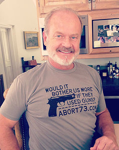 Kelsey Grammer Wears Anti-Abortion T-Shirt That Likens Procedure to Gun Deaths