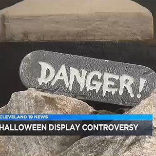 Controversial Halloween Lawn Display in Parma, Ohio