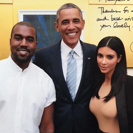 Kim and Kanye Give President Obama Yeezys