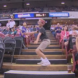 This Twerking Basketball Fan Gets Caught on the Jumbotron, Wins Our Hearts