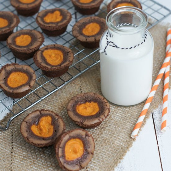 Pumpkin Cheesecake Brownie Bites Recipe