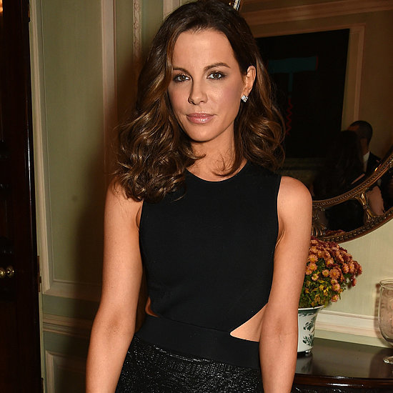 Kate Beckinsale Wearing a Black Cutout Dress