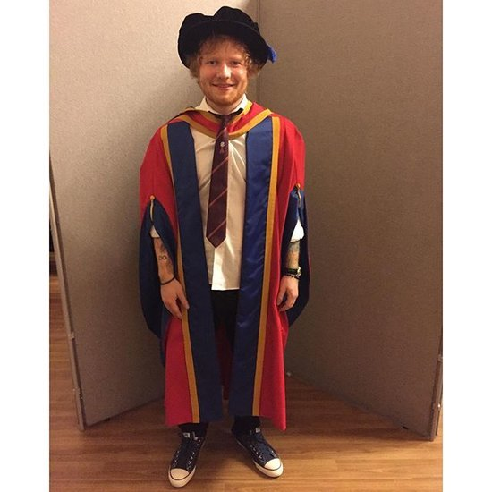 Ed Sheeran Gets Honorary Degree