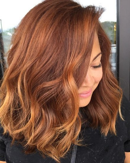 Pumpkin Spice Hair Color Trend