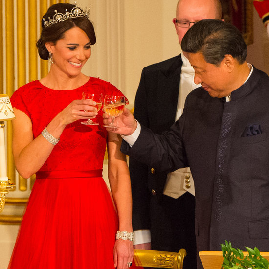 Kate Middleton and Prince William at State Banquet Oct. 2015