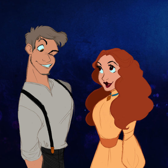 Disney Characters as Humans in Art