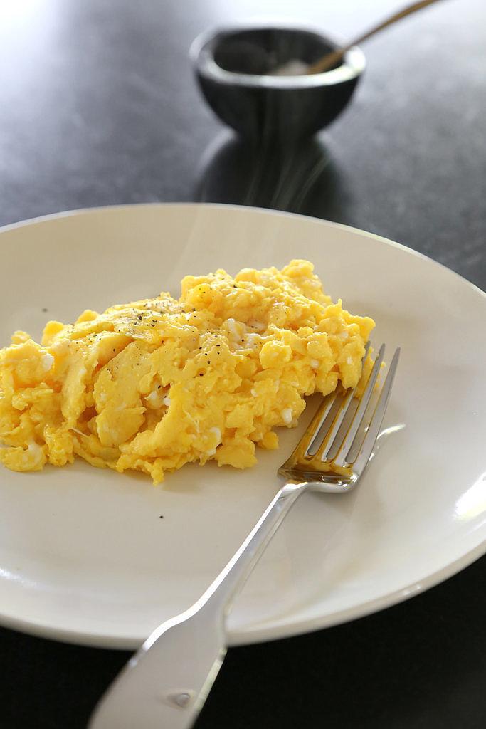 Add Veggies to Scrambled Eggs
