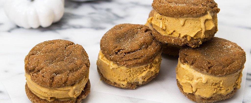 Pumpkin Ice Cream Sandwiches?! We Think Yes