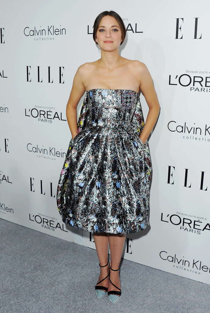 Marion Cotillard in Dior at the 2013 Elle Women in Hollywood event.