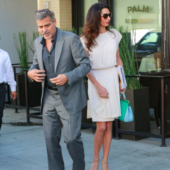 George and Amal Clooney Out in LA October 2015