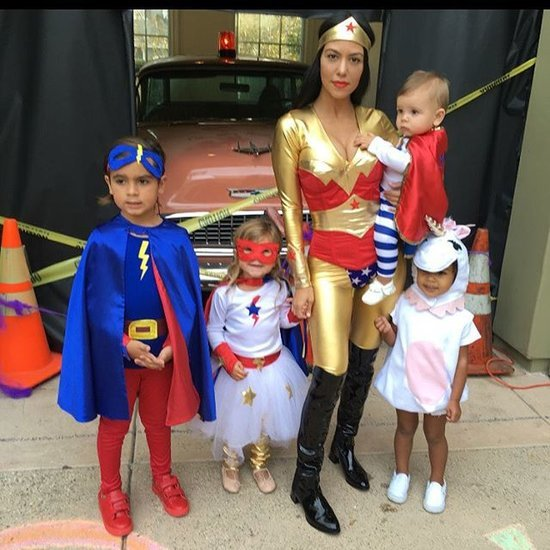 Kourtney Kardashian Superhero Halloween Costume Picture
