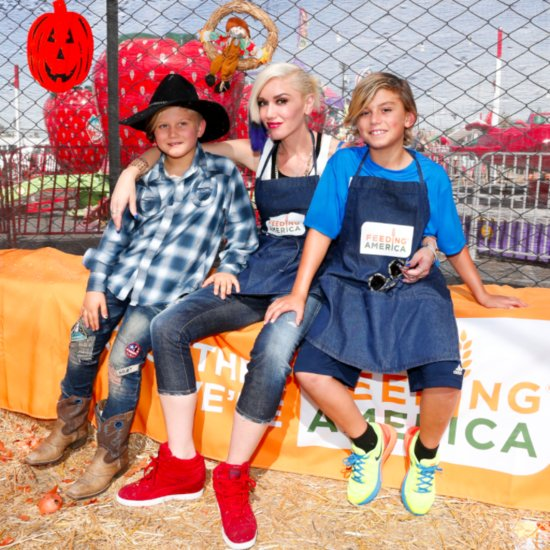 Gwen Stefani and Her Sons at Feeding America October 2015